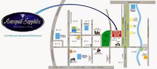 Amrapali Sapphire :: Location Map