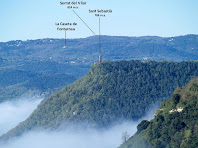 L'ermita de Sant Sebastià de Vic des de la pujada a la Creu de Gurb