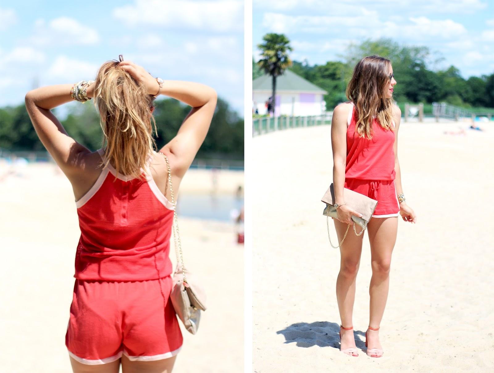 Combi-short été léger plage