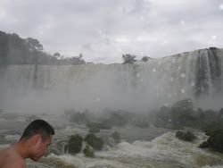 Upper Iguazu Falls from river catwalk, Brazil side
