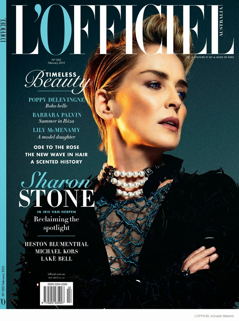 Actress, Fashion Model: Sharon Stone for L'Officiel, Australia