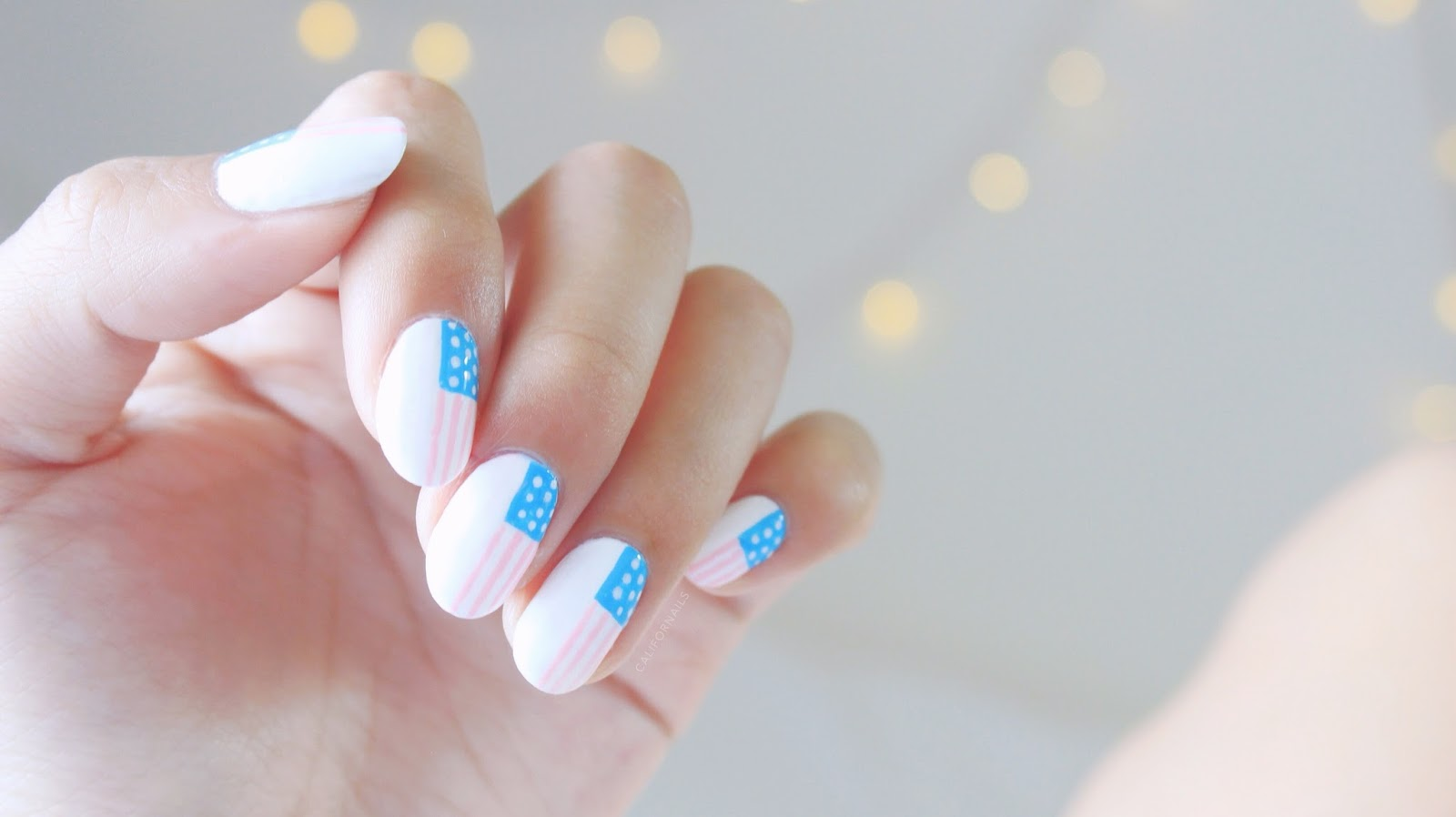Girly Patriotic Nails | Do you wear red white and blue on Memorial day? | Patriotic Memorial Day Nail Designs