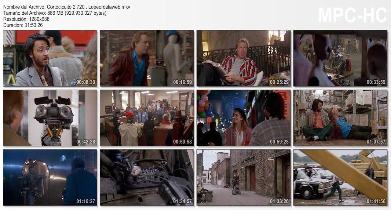 Cortocircuito 2 (1988) 720p Latino