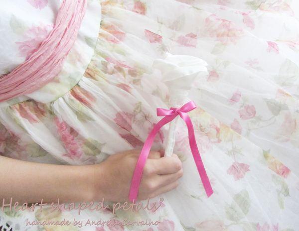 Flower girl fabric flower