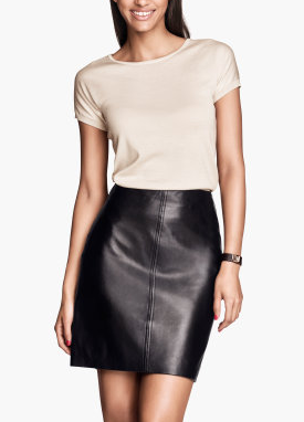 Leather skirt, basic wardrobe