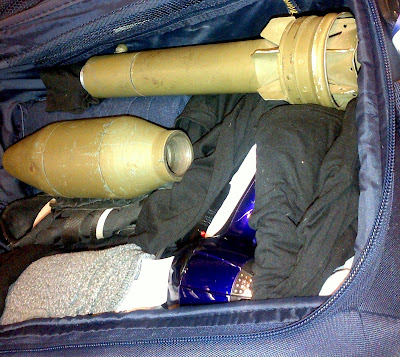A WWII era inert bazooka round was discovered in a checked bag at Chicago O'Hare (ORD).