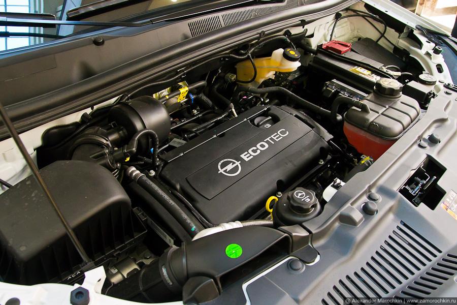 Под капотом Opel Mokka, двигатель