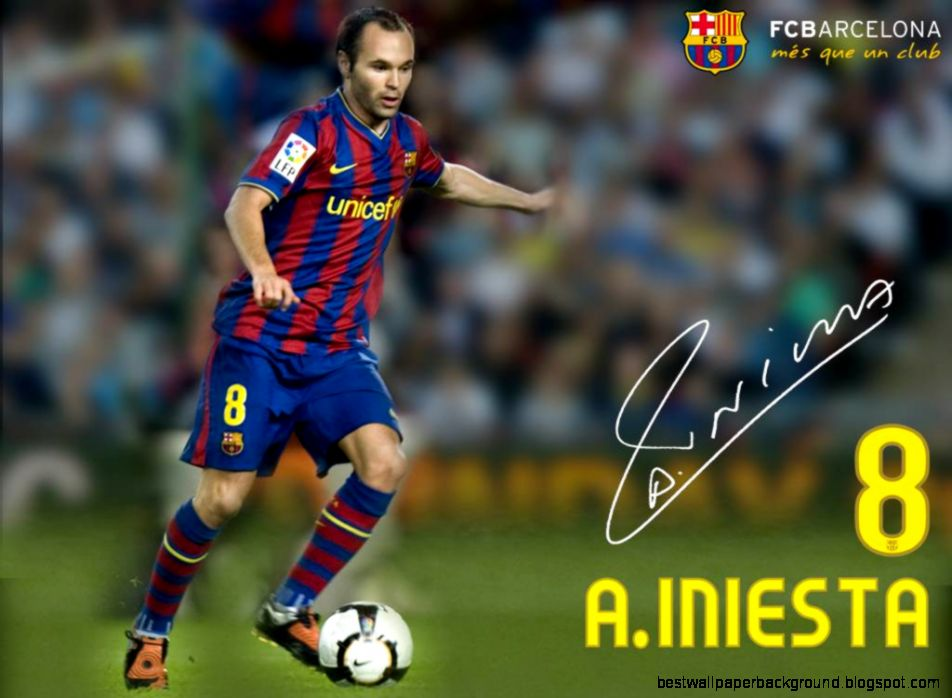 andres iniesta barcelona wallpaper 2013 hd  SoccerTrust