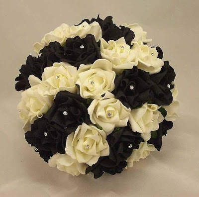 Black White Wedding Flowers Bouquets