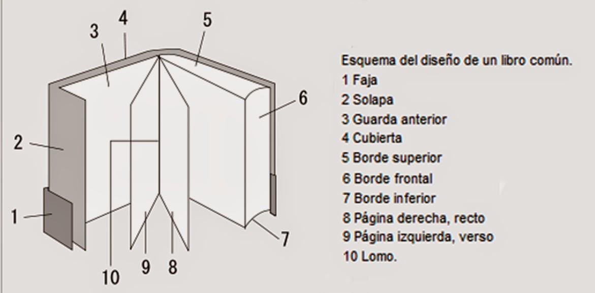 Partes externas del libro tresyeah for Partes de una biblioteca