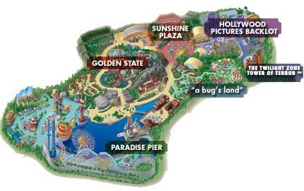 Disney Family 411 Disney S California Adventure Park Map