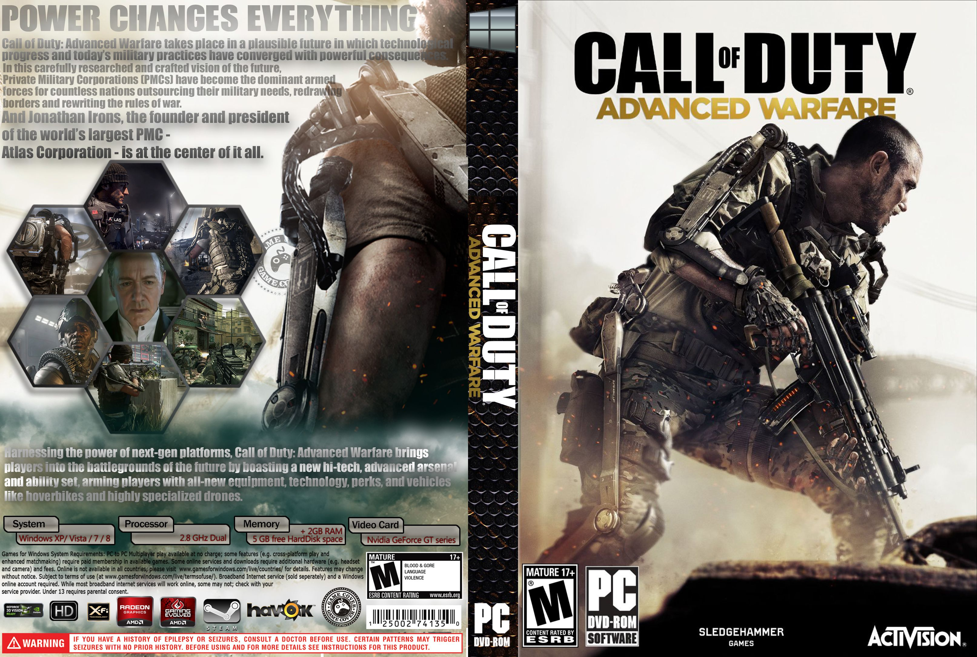Capa Call Of Duty Advanced Warfare PC [Exclusiva]