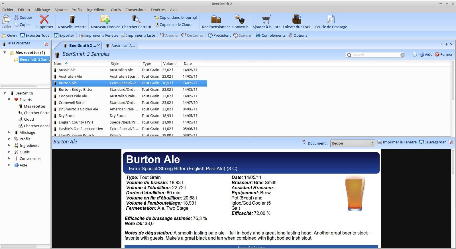 BeerSmith 2 en français sous Linux (Debian ou Ubuntu)