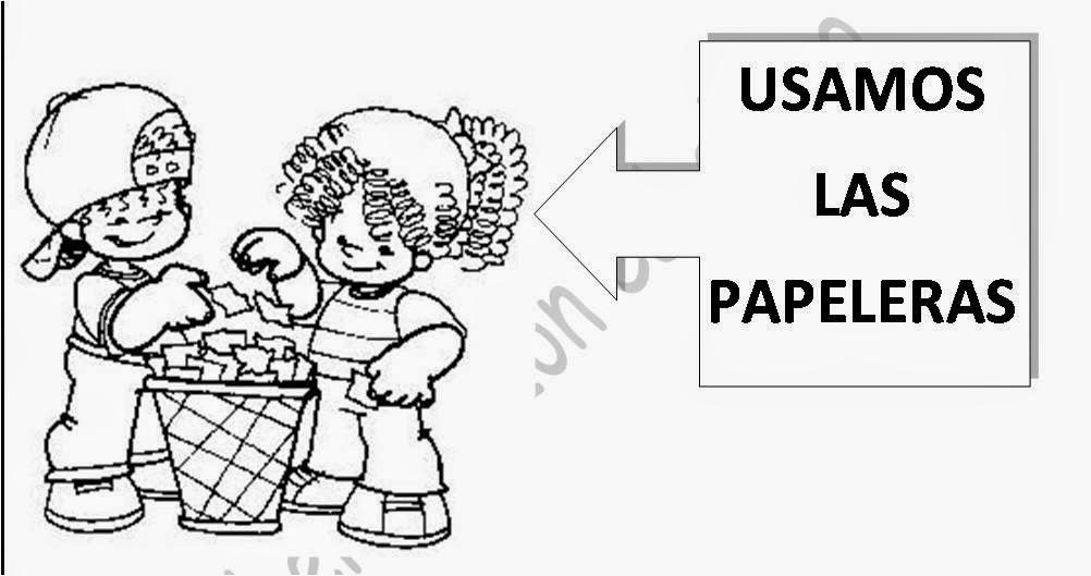 Jardin Escolar: Las reglas del salón de clases - Dibujos para colorear