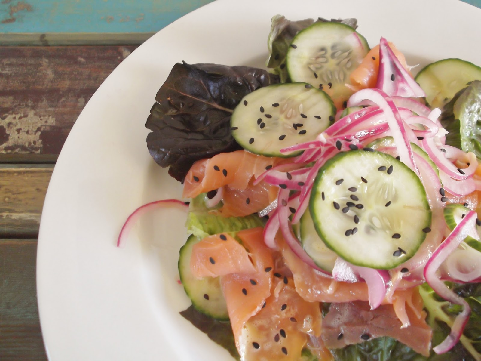 Smoked Salmon Salad with Pickled Vegetables | love me, feed me