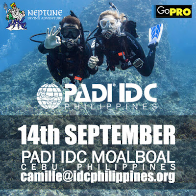 My next PADI IDC is scheduled for 14th September in Moalboal, Philippines