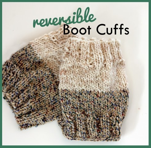 Free Knitting Pattern For Boot Cuffs : Everyday Art: Free Reversible Knit Boot Cuff Pattern