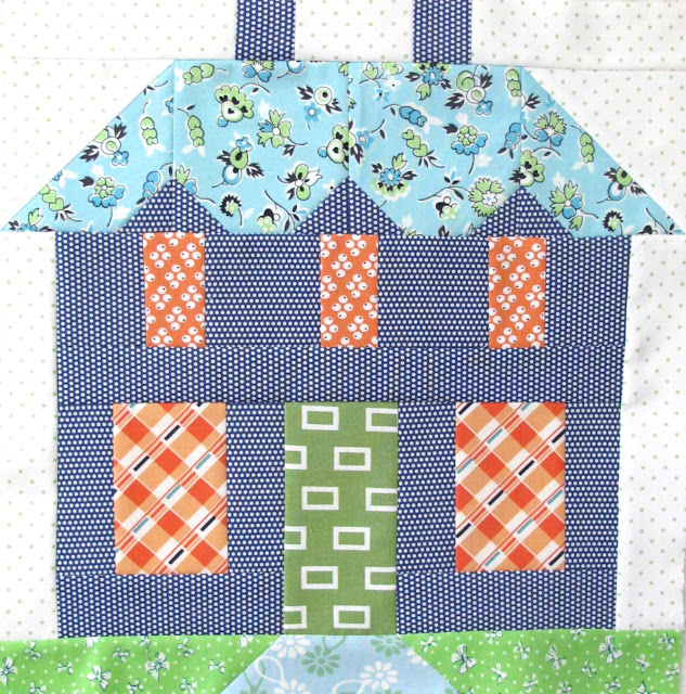 Free Quilt Patterns Of Houses : Bee In My Bonnet: My Home Sweet Home Quilt Block Pattern - In Quiltmakers Magazine 100 Blocks!!!