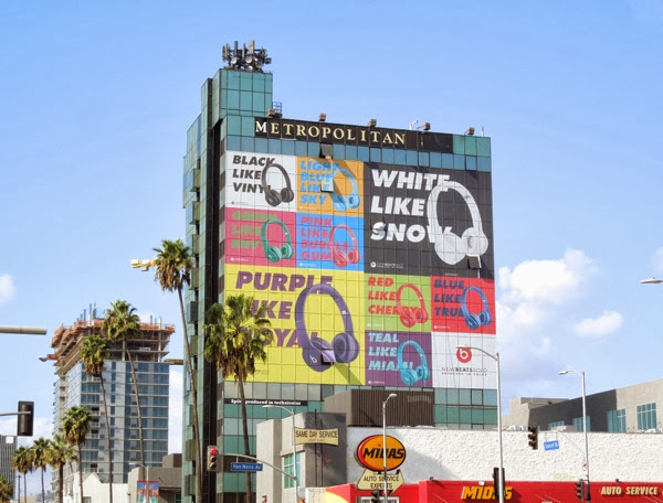 Giant New Beats Solo headphones billboard