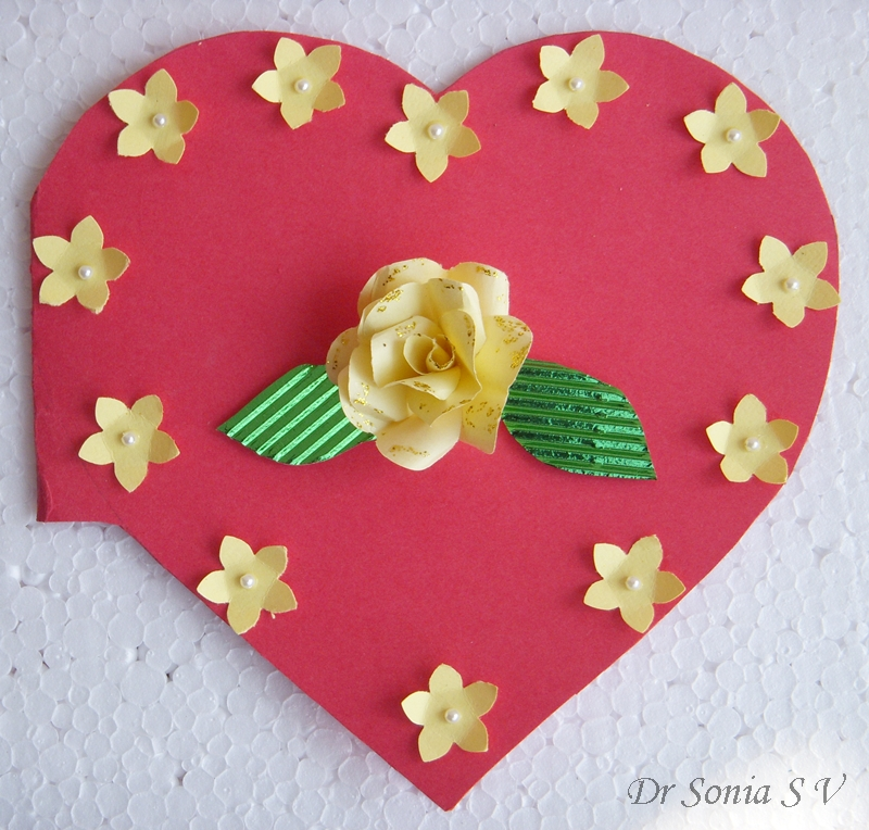 cards  crafts  kids projects  easy heart punch rose flower