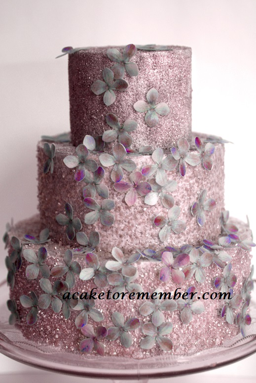 A Cake To Remember VA: Glitter and Flowers Cake
