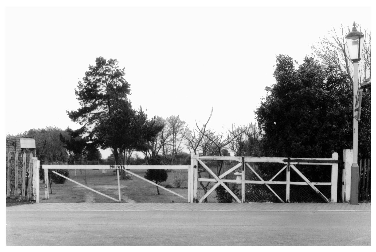 Crossing gates at The Crescent