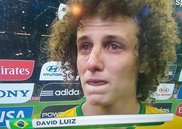 David Luiz, World Cup, Brazil, Germany, crying, interview, TV World Cup 2014, 7-1,