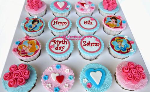 Fondant Cupcake Disney Princess Aisha Puchong Jaya
