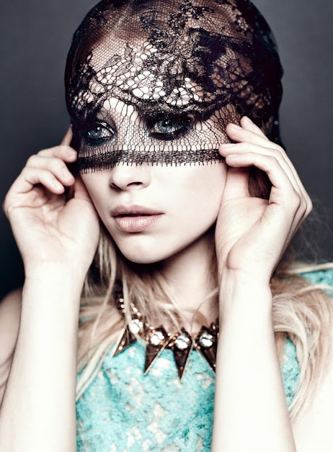 Flare Magazine photographed by Chris Nicholls and Fashion Junkie's Talking Trends featuring Lace
