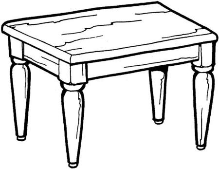 Dibujo de Mesa para colorear y pintar, Mesas para colorear y pintar