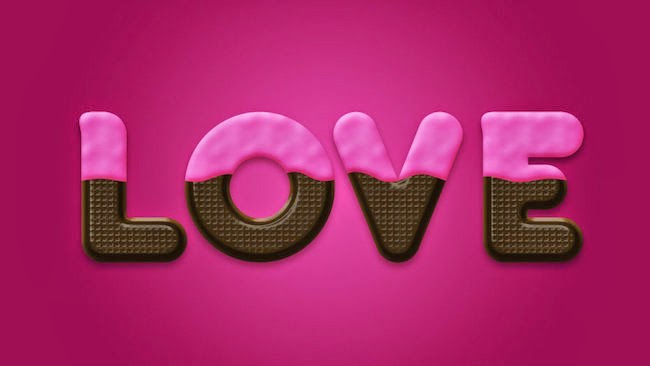 Chocolate Doughnut Text Effect Photoshop Tutorial