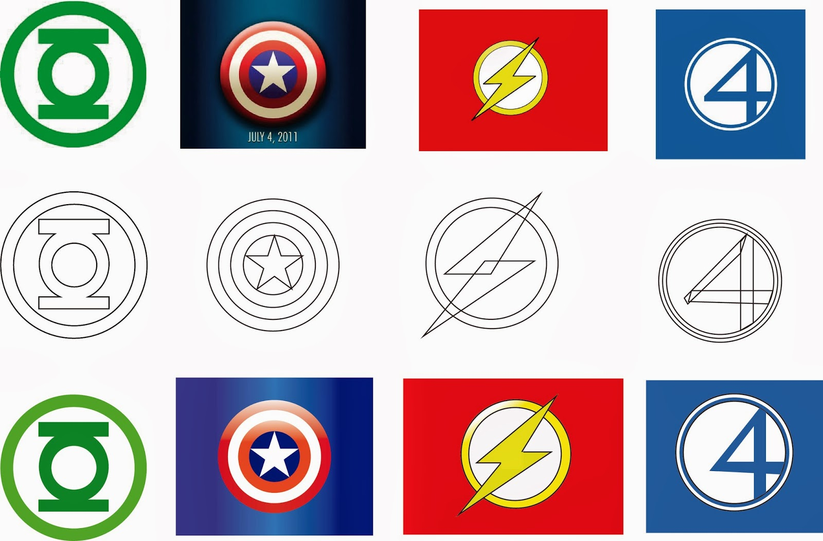 what are the logos of marvel super heroes joy studio