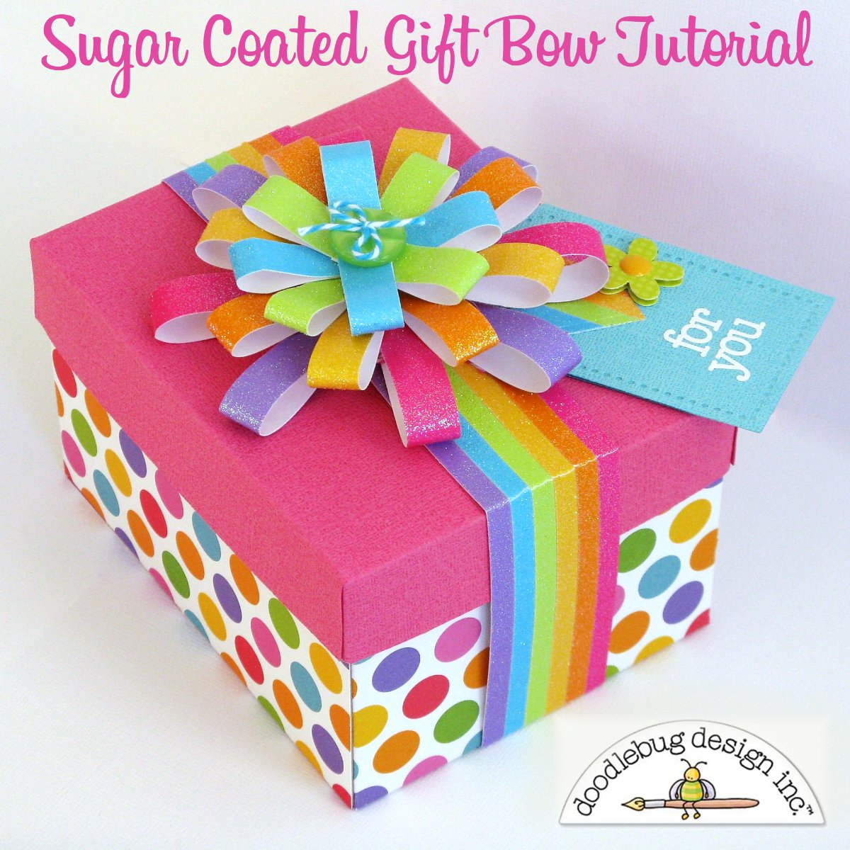 Snippets By Mendi: A Sugar Coated Rainbow Gift Bow Tutorial by Mendi