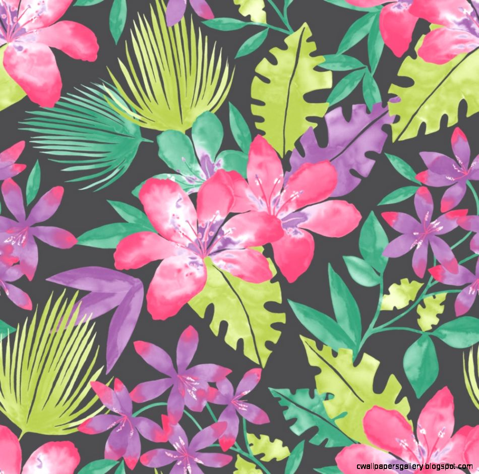 Rasch Paradise Flowers Pattern Tropical Fl Leaf Wallpaper 209129