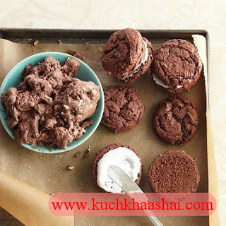 Chocolate-Marshmallow Ice Cream Sandwiches