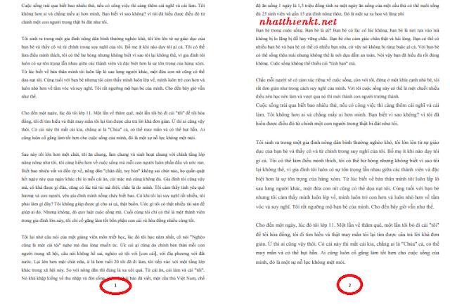 In nhiều trang trên một tờ A4 trong Word đơn giản