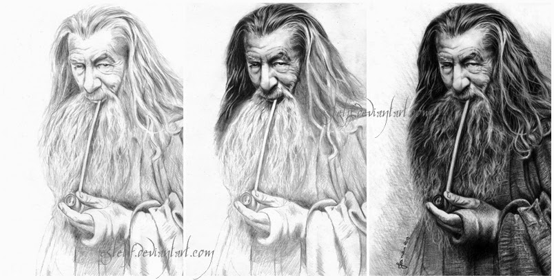 02-Gandalf-The-Grey-Ian McKellen-Josi-Fabri-Esteljf-The Hobbit-LotR-www-designstack-co