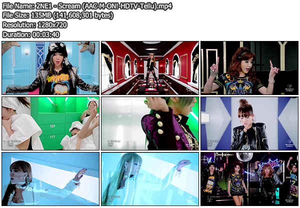 [PV] 2NE1   Scream (M ON! HDTV 720p) (x264)