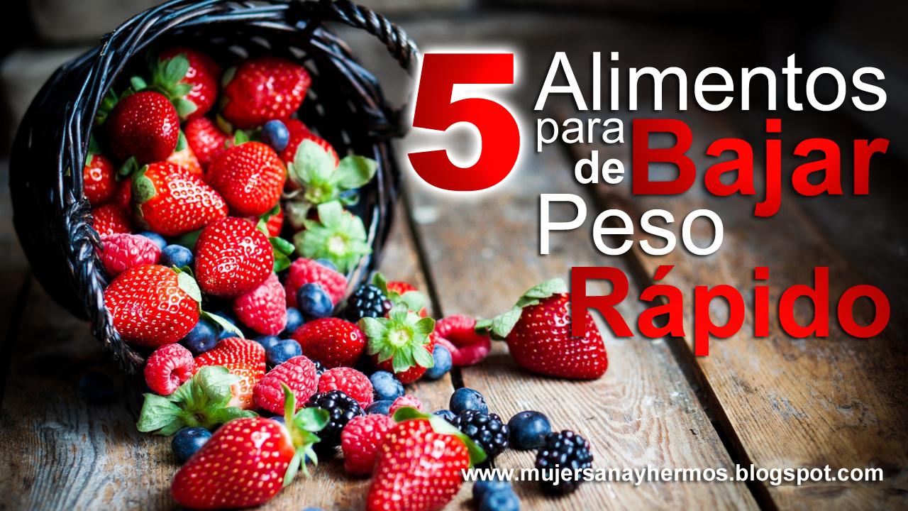 Mujer sana y hermosa 5 alimentos para bajar de peso - Alimentos para perder peso ...