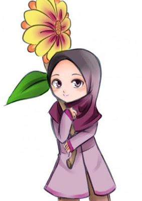 Gambar Kartun Anak Permpuan Cantik Sholeha