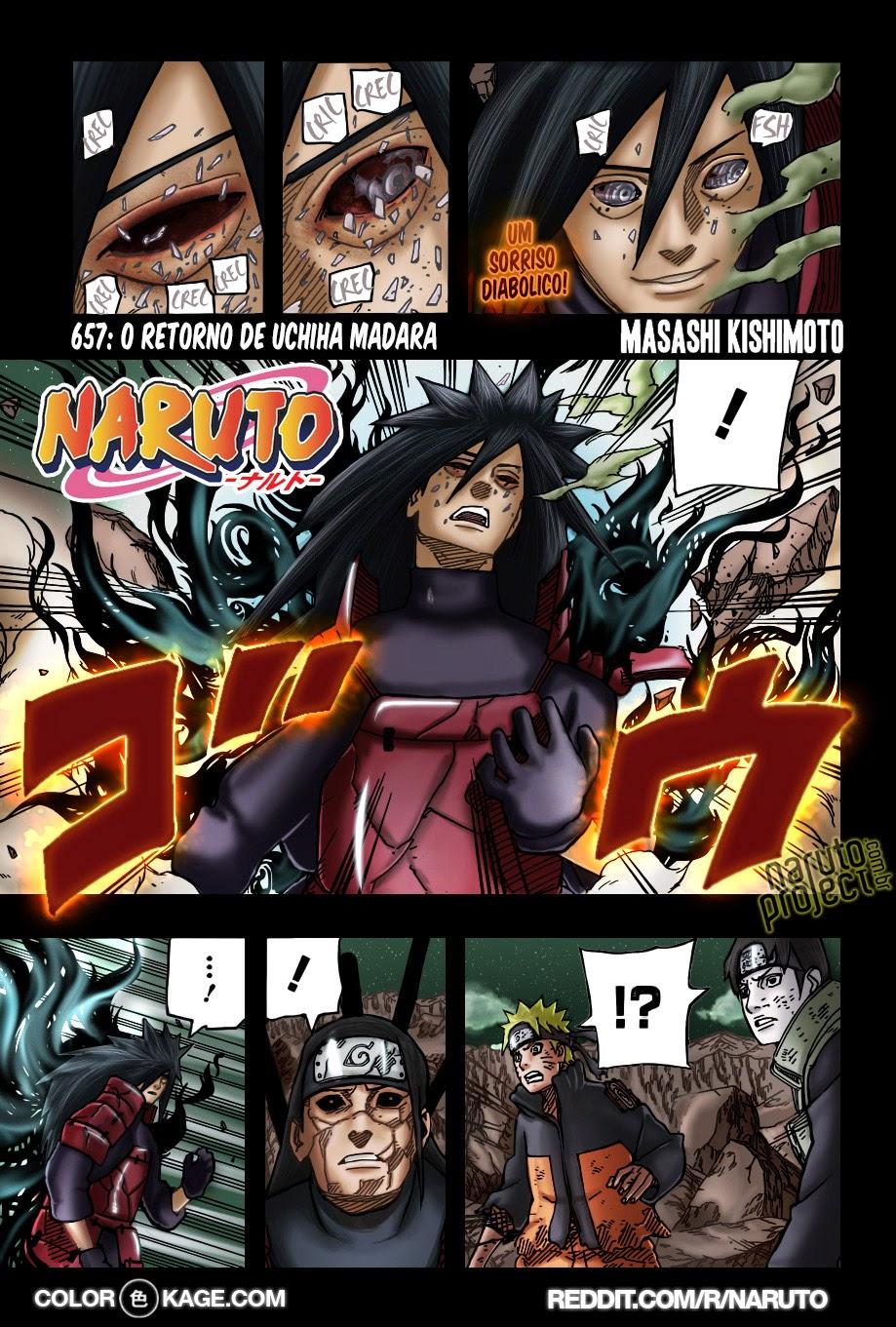 Naruto 657 Mangá Colorido em português leitura online