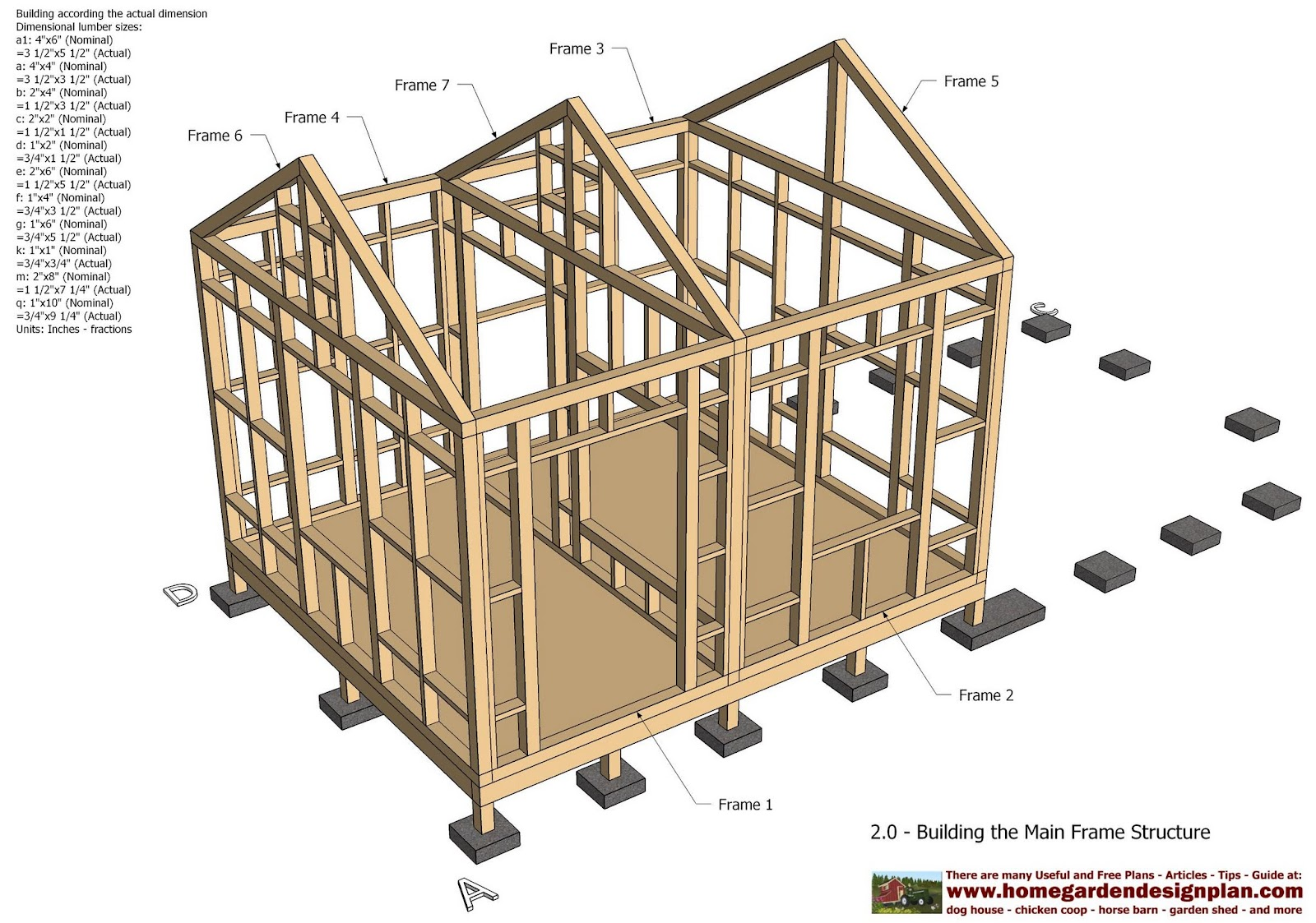 Home garden plans cb210 combo plans chicken coop for Shed construction