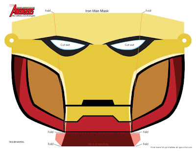 Calvin 39 s canadian cave of coolness more iron man for iron for Avengers mask template