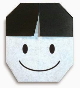Origami Tutorials - How to make a face of Boy