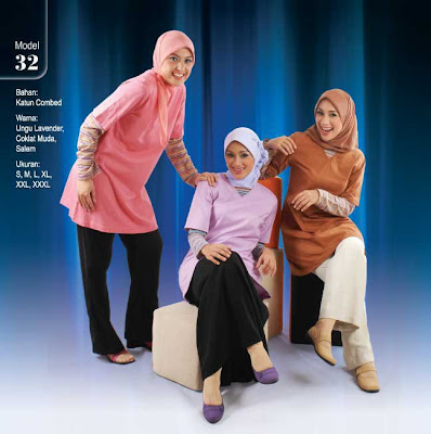 Busana Muslim Qirani Ungu lavender Coklat muda Salem