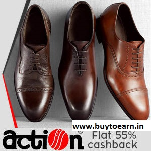 PayTM : Buy Action Shoes with 45% Cashback From Rs. 164 only