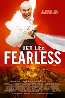 Movie poster for Jet Li's film Fearless (Huo Yuan Jia), a quickie review on Minimalist Reviews.