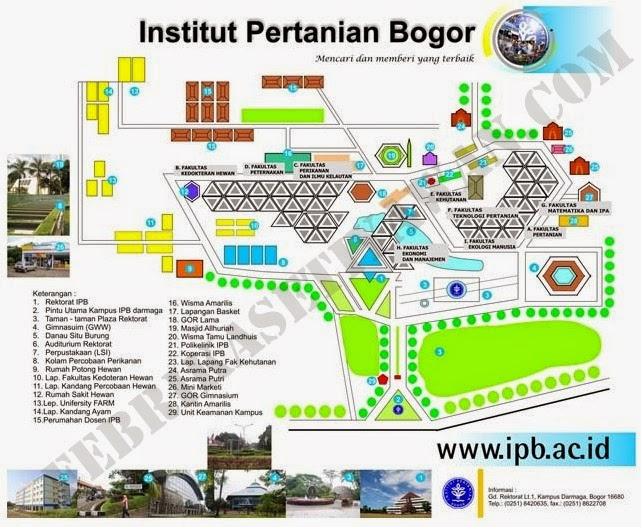 Peta Lokasi IPB