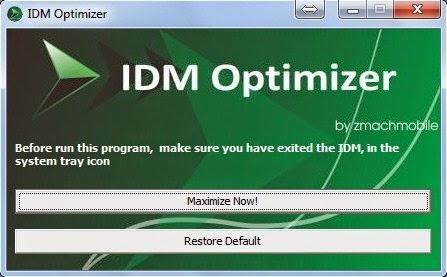 Cara Mempercepat Kecepatan Download IDM Dengan IDM Optimizer