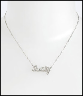 Lucky Script Necklace from Nordstrom